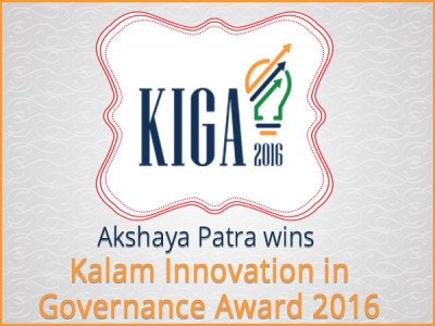 Akshaya Patra receives Kalam Memorial Award, 2016
